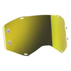 Žluté zrcadlové sklo do motokrosových brýlí SCOTT Prospect/Fury