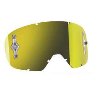 Žluté zrcadlové sklo Works do dětských motokrosových brýlí SCOTT Buzz MX výprodej