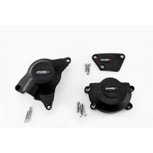 Ochranné kryty motoru PUIG 20129N černý zahrnuje pravý, levý kryt a kryt alternátoru
