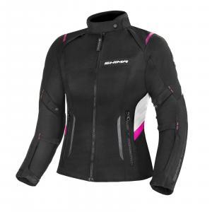 Dámská bunda na motorku Shima Rush černo-šedo-růžová výprodej