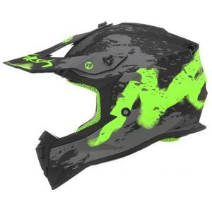Dětská motokrosová přilba NOX N632K Trash černo-šedo-zelená