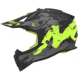 Dětská motokrosová přilba NOX N632K Trash černo-šedo-žlutá