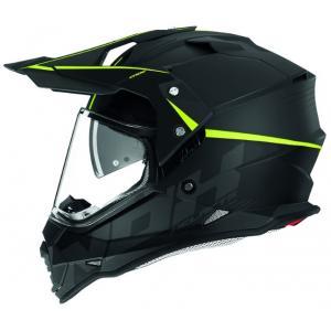 Enduro přilba NOX N312 Crow černo-fluo žlutá