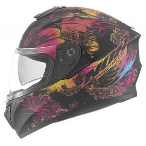 Integrální přilba na motorku NOX N918 Kero černo-růžová