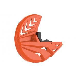 Kryt předního brzdového kotouče se spodním krytem vidlice POLISPORT PERFORMANCE oranžovo KTM/černá