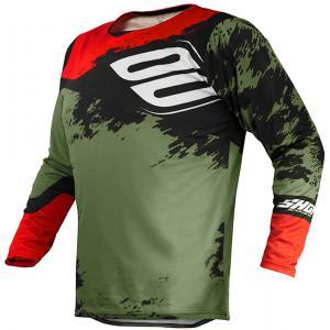 Motokrosový dres Shot Contact Shadow zeleno-černo-červený výprodej