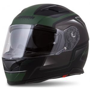 Přilba na motorku Cassida Apex Fusion černo-army zelená výprodej