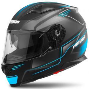 Přilba na motorku Cassida Apex Fusion černo-modrá