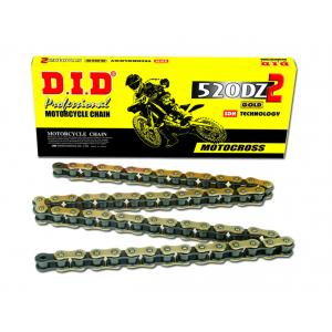 Motokrosový závodní řetěz D.I.D Chain 520DZ2 114 L Zlatá/Černá