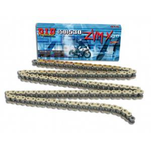 ZVM-X série X-Kroužkový řetěz D.I.D Chain 530ZVM-X 118 L Zlatá/Zlatá