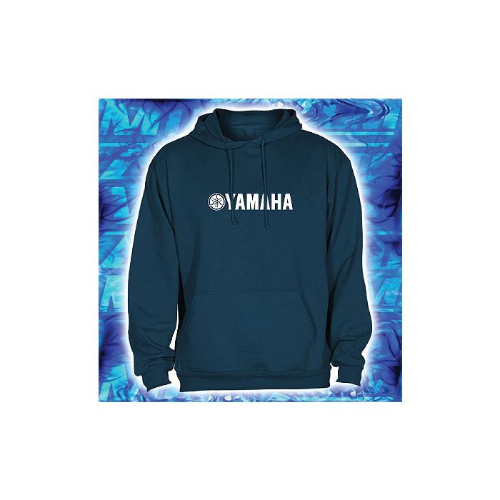 Mikina s motivem Yamaha navy s kapucí výprodej