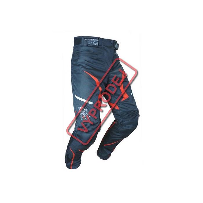 Moto kalhoty RSA Devil dámské červené POŠKOZENÉ - vel. XXL
