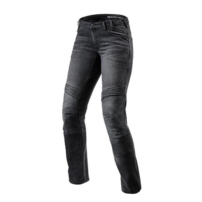 Dámské jeansy na motorku Revit Moto TF černé výprodej
