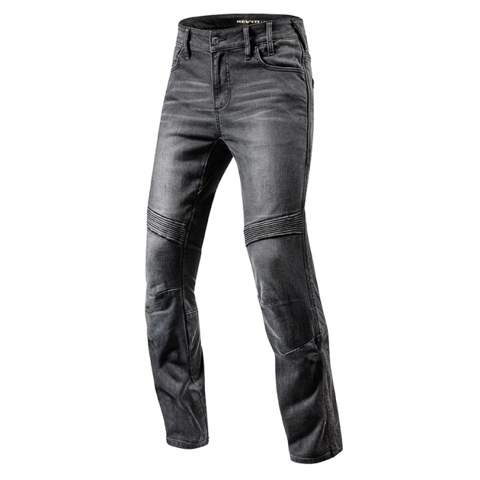 Jeansy na motorku Revit Moto TF černé prodloužené výprodej