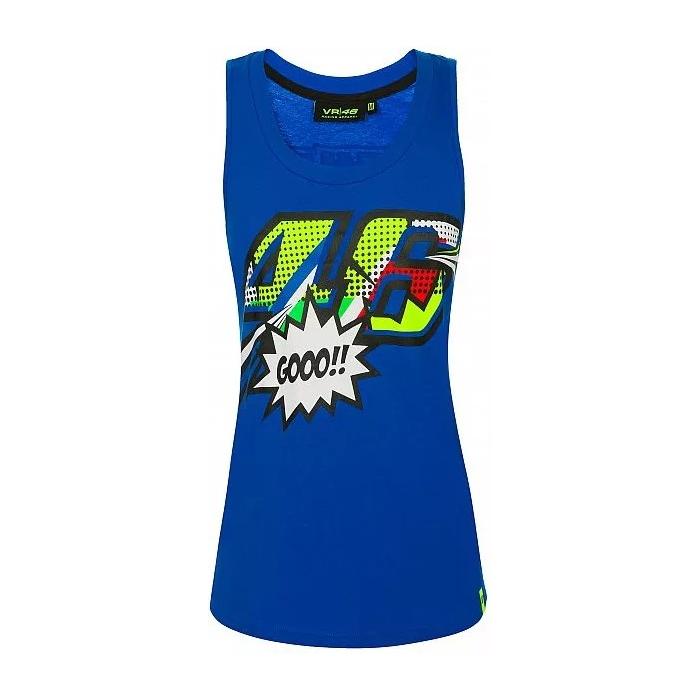 Dámské tílko VR46 Valentino Rossi POP ART modré