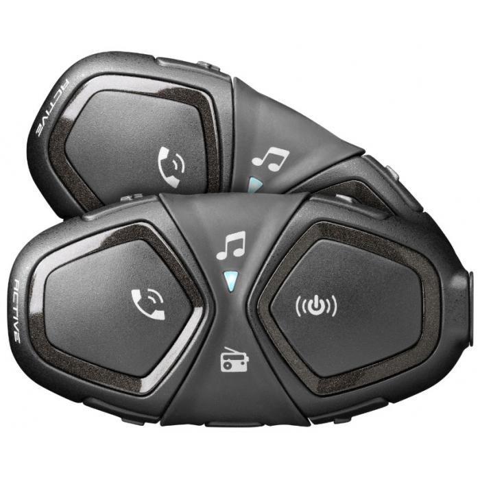 Bluetooth handsfree CellularLine Interphone ACTIVE - Twin Pack
