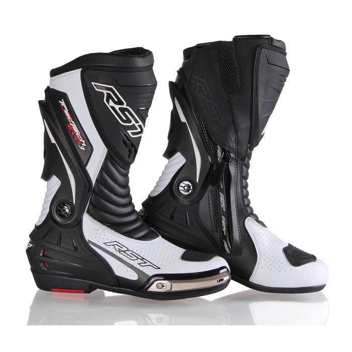Boty na motorku RST Tractech Evo 3 Sport černo-bílé výprodej