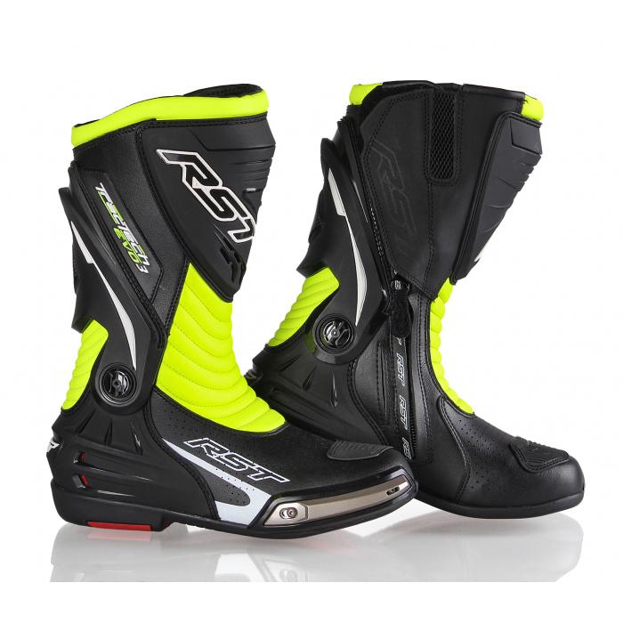 Boty na motorku RST Tractech Evo 3 Sport černo-fluo žluté výprodej