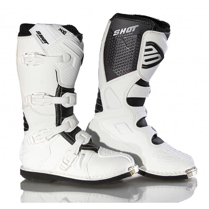 Boty na motorku Shot X10 bílé