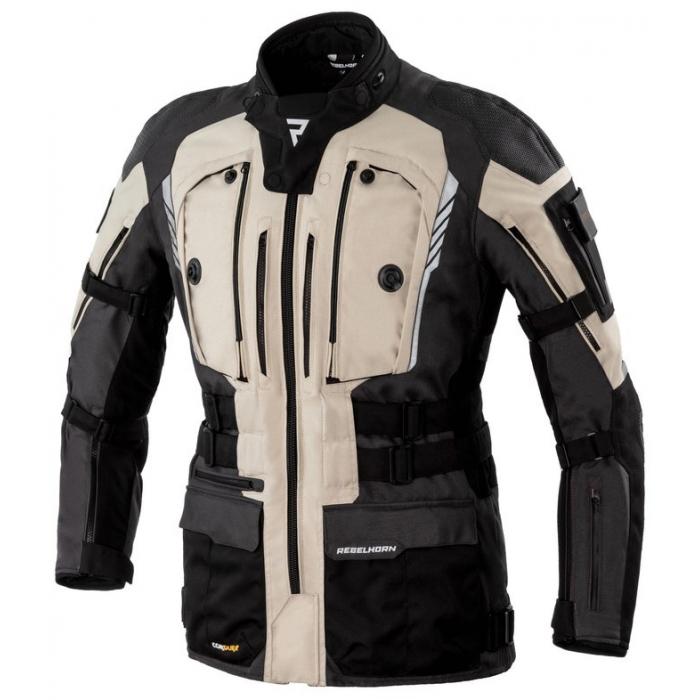 Bunda na motocykl Rebelhorn Patrol černo-písková výprodej