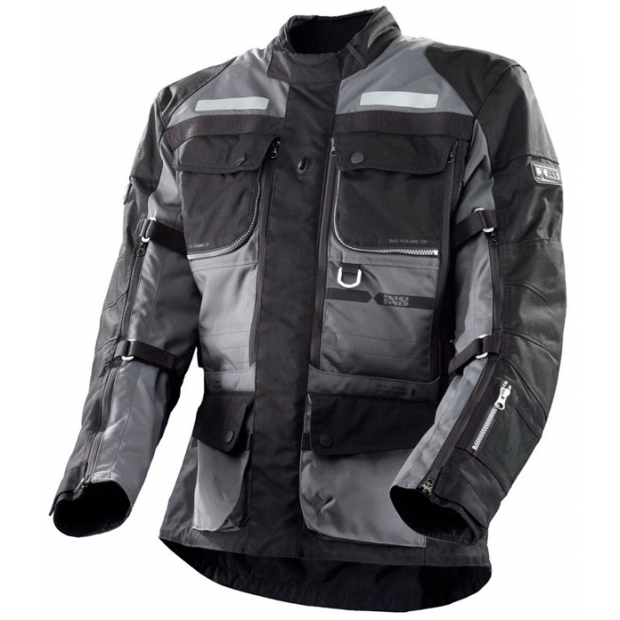 Bunda na motorku iXS Montevideo-ST šedo-černá výprodej