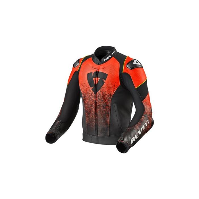 Bunda na motorku Revit Quantum Air černo fluo-červená výprodej
