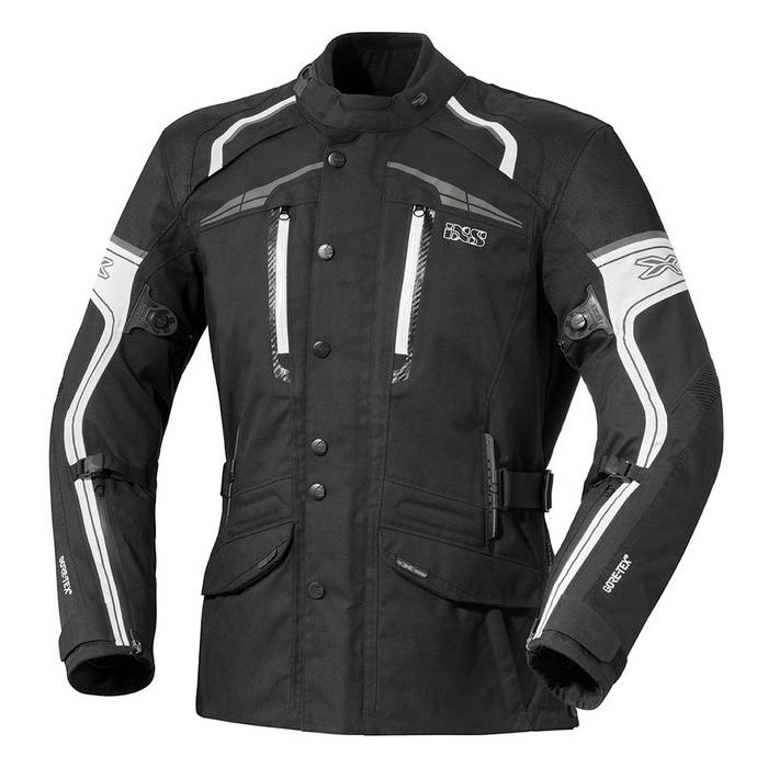 Dámská bunda na motorku iXS Montgomery černo-bílá