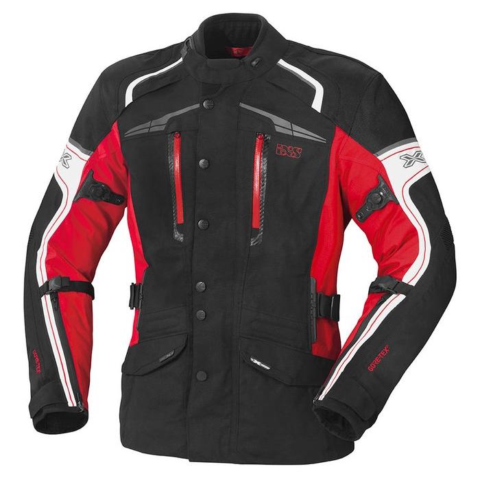 Dámská bunda na motorku iXS Montgomery černo-bílo-červená