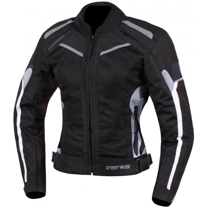 Dámská bunda na motorku Street Racer Betty černo-bílo-camo
