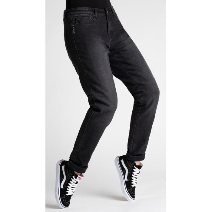 Dámské jeansy na motorku BROGER California černé výprodej