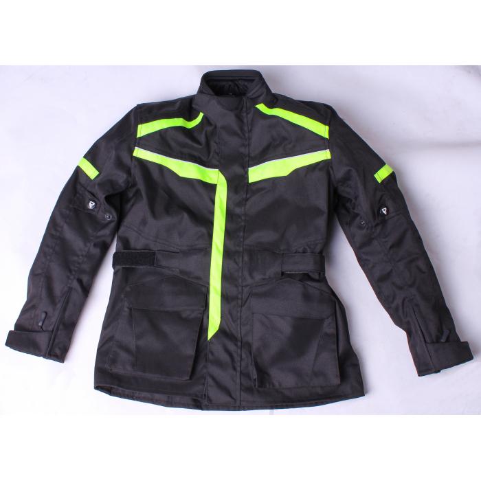 Dětská bunda na motorku Street Racer Kid černo-fluo žlutá výprodej