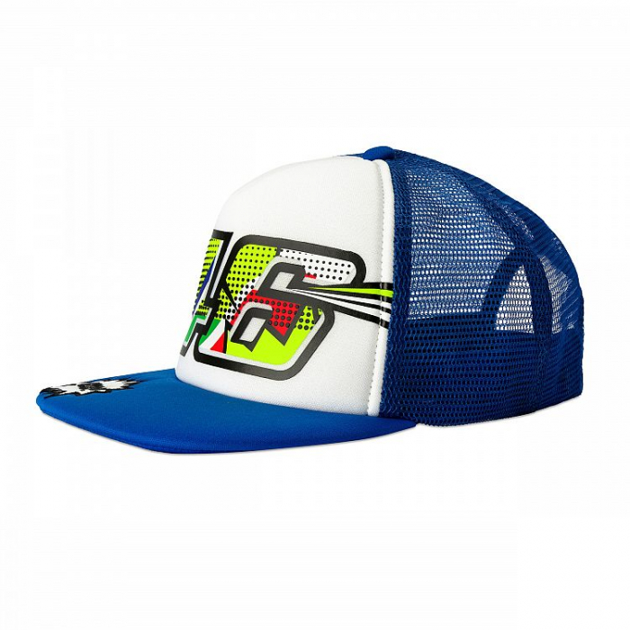 Dětská kšiltovka VR46 Valentino Rossi POP ART bílo-modrá
