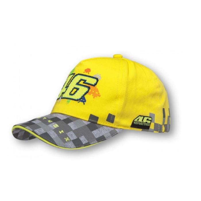 Dětská kšiltovka VR46 Valentino Rossi žluto-šedá