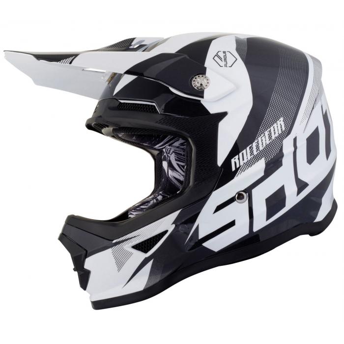 Dětská motokrosová přilba Shot Ultimate černo-bílá výprodej