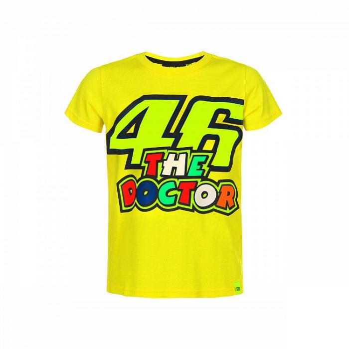 Dětské triko VR46 Valentino Rossi THE DOCTOR žluté