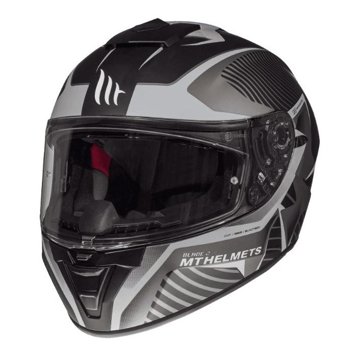 Integrální přilba na motorku MT Blade 2 SV Blaster černo-šedá