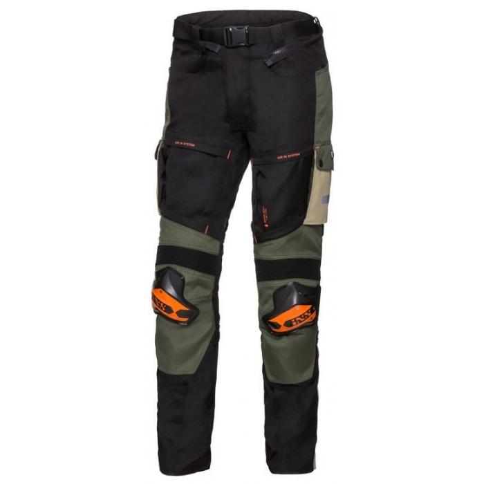 Kalhoty na motorku iXS Montevideo-RS1000 béžovo-zeleno-černé výprodej