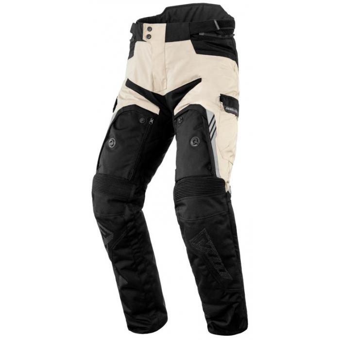 Kalhoty na motorku Rebelhorn Patrol černo-pískovo-šedé