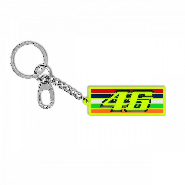 Klíčenka VR46 Valentino Rossi STRIPES žlutá