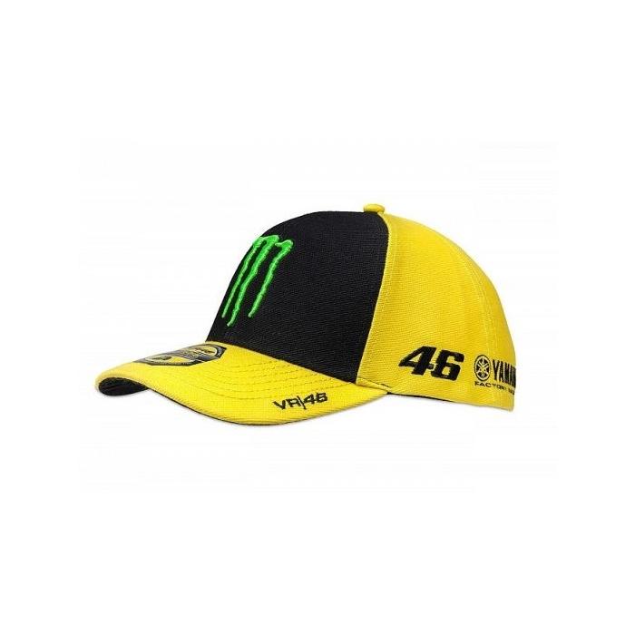 Kšiltovka VR46 Valentino Rossi SPONSOR žluto-modrá