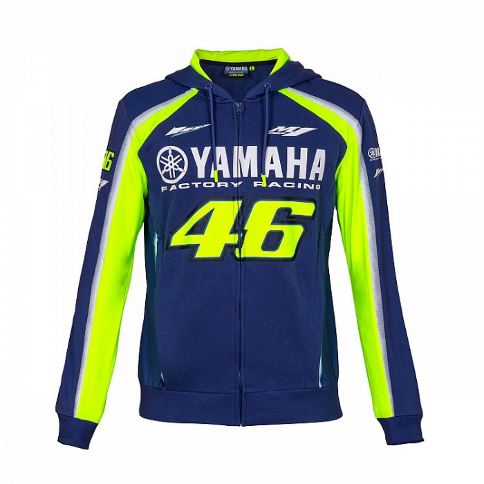 Mikina VR46 Valentino Rossi fleece Yamaha modro-žlutá