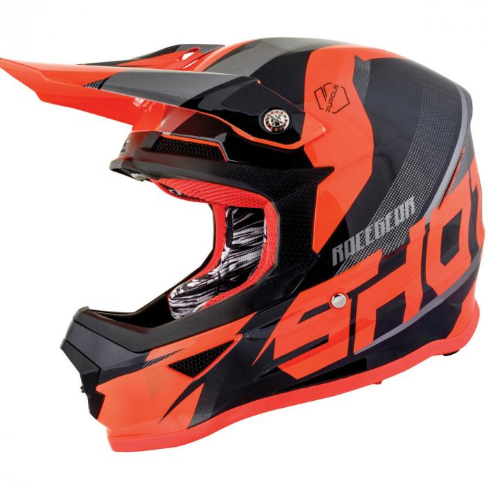 Motokrosová přilba Shot Ultimate černo-fluo oranžová