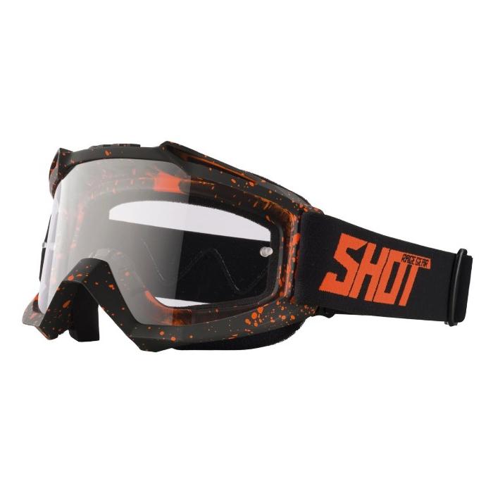 Motokrosové brýle Shot Assault Drop fluo oranžové
