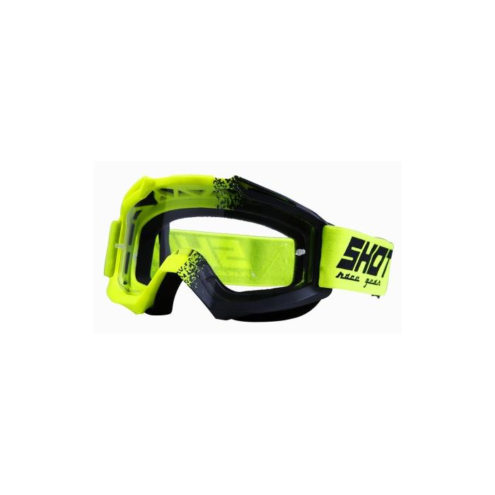 Motokrosové brýle Shot Assault Fusion fluo žluté