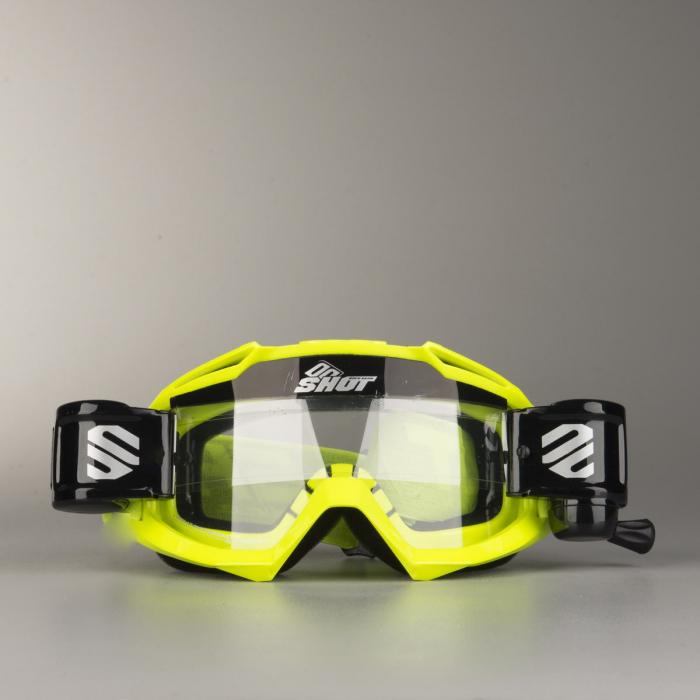 Motokrosové brýle Shot Assault Roll-Off fluo žluté - II. jakost