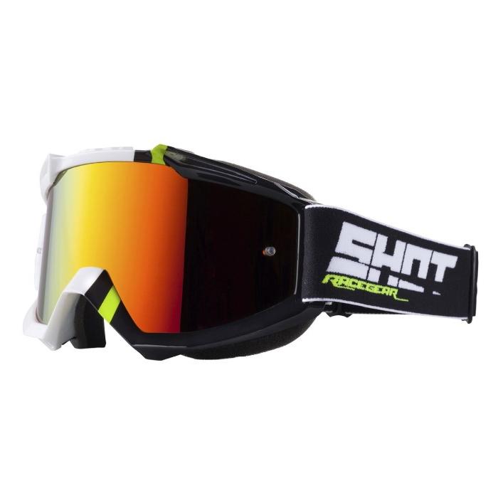 Motokrosové brýle Shot Iris Sound černo-bílé