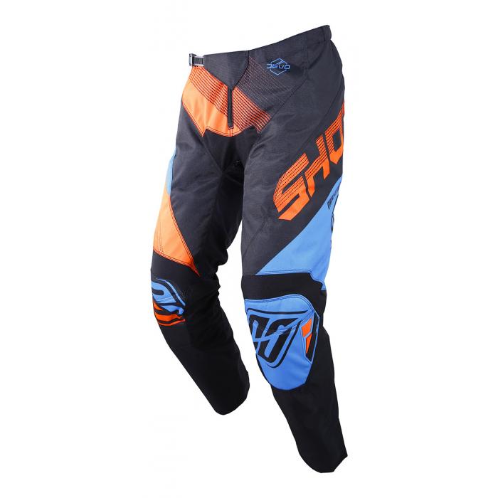 Motokrosové kalhoty Shot DEVO Ultimate modro-fluo oranžové výprodej