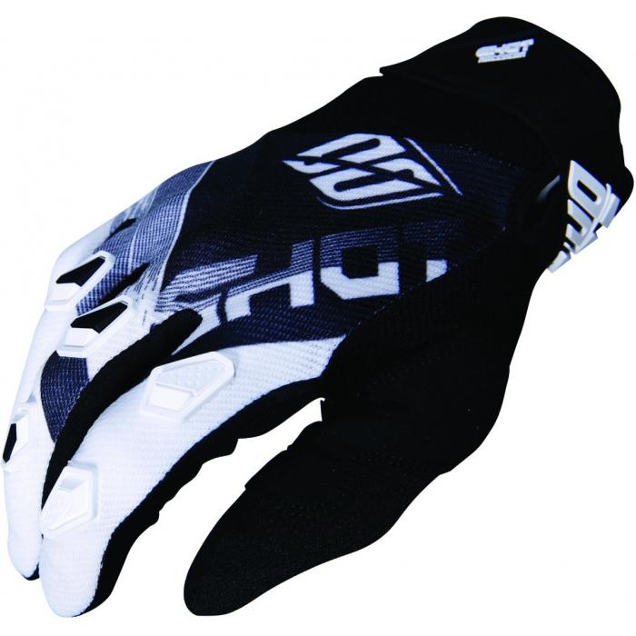 Motokrosové rukavice Shot DEVO Ultimate černo-bílé