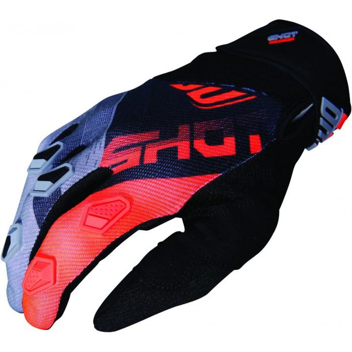 Motokrosové rukavice Shot DEVO Ultimate černo-fluo oranžové výprodej