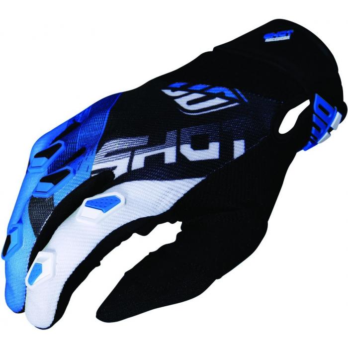 Motokrosové rukavice Shot DEVO Ultimate černo-modré